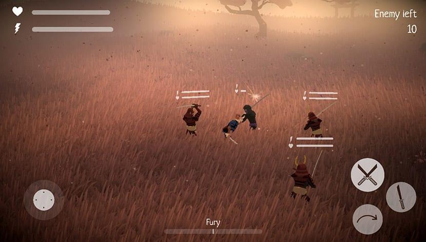 Combate contra varios en Glory Ages Samurais