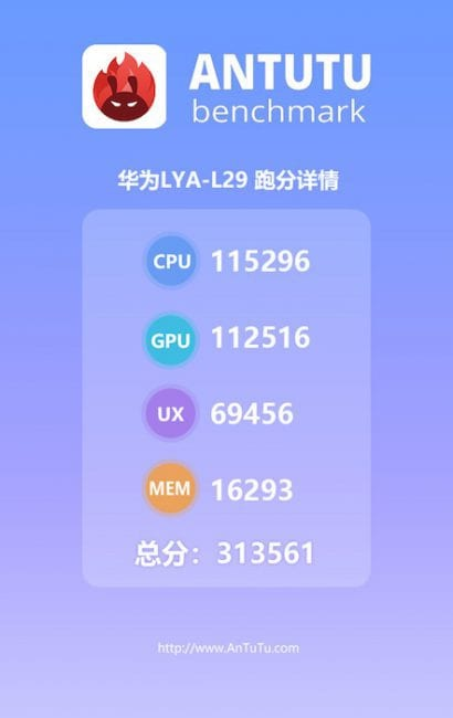 Huawei Mate 20 Pro puntuado en AnTuTu