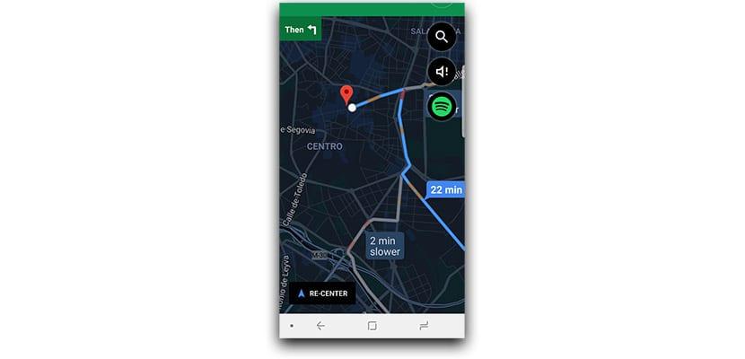 Tema oscuro para la navegación de Google Maps