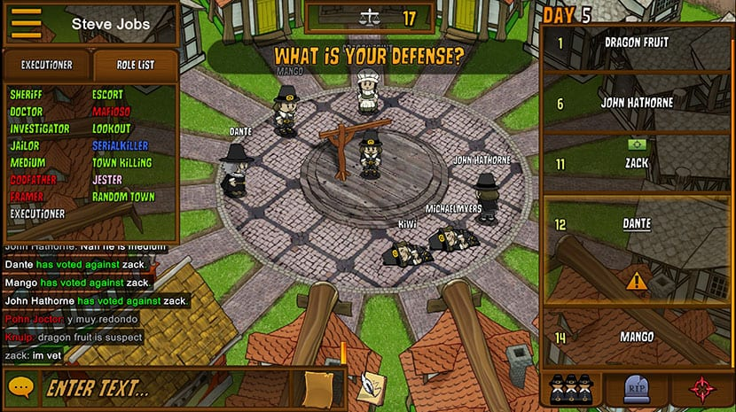 Town of Salem asesinatos