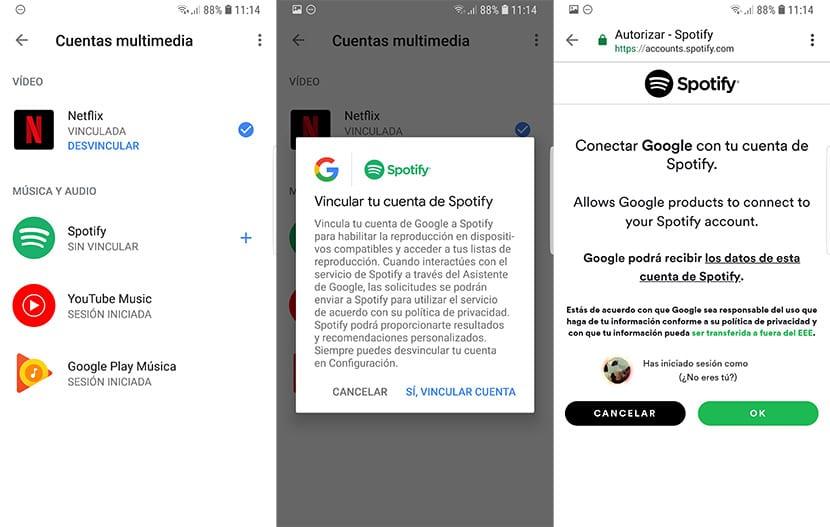 Vincular cuenta de Spotify a Google Home