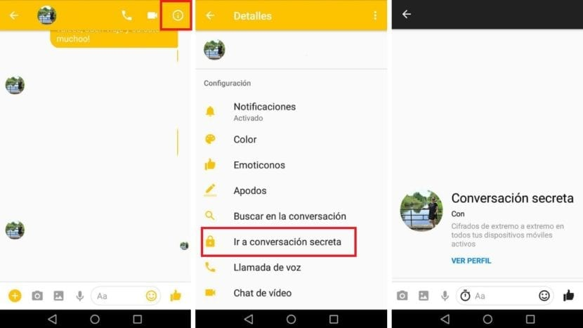 Chat secreto Facebook™ Messenger