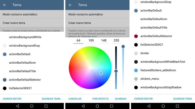 Editar tema Telegram app