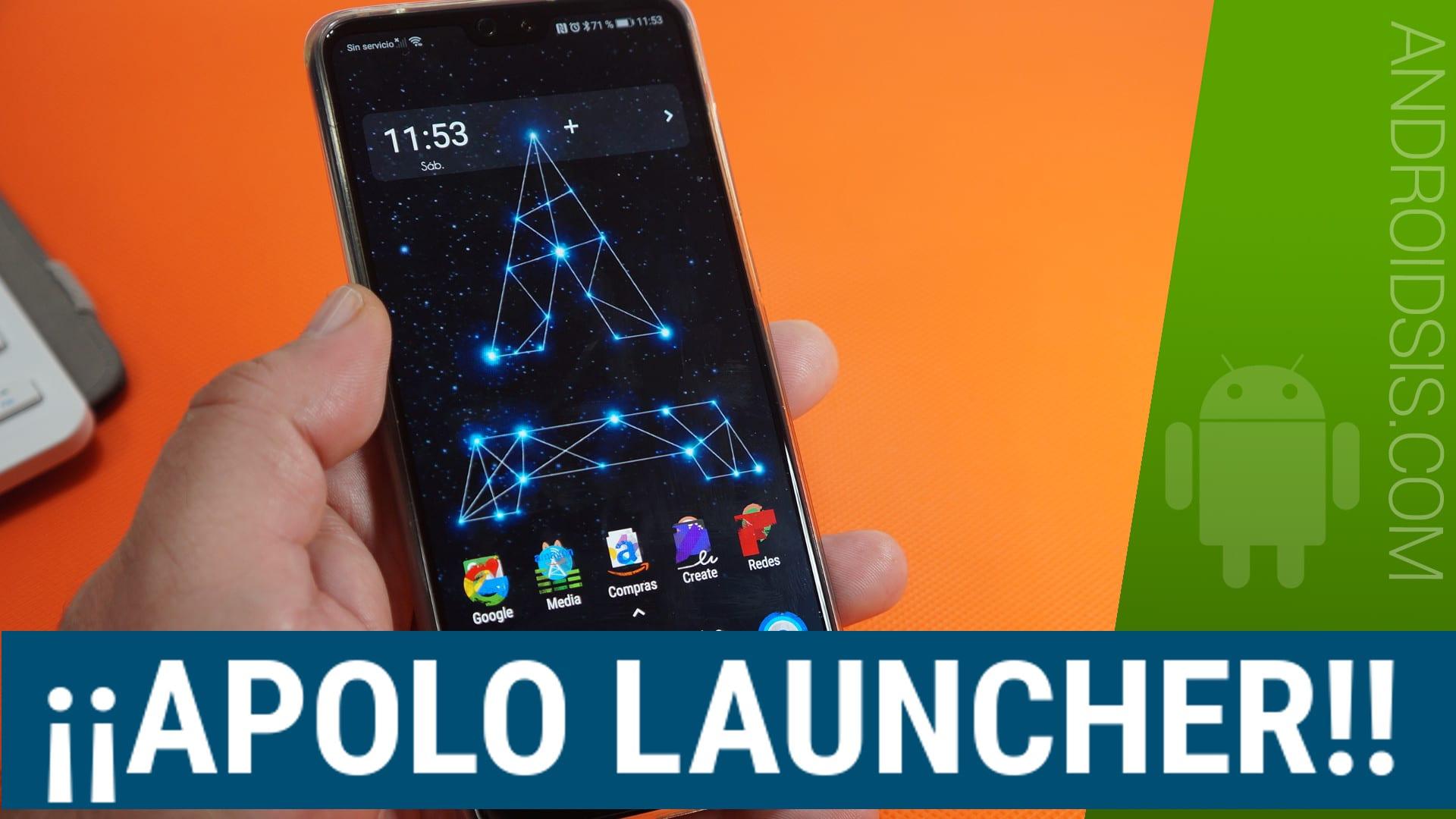 Simplemente Apolo Launcher. Gratuito, sin anuncios y espectacular para cualquier Android