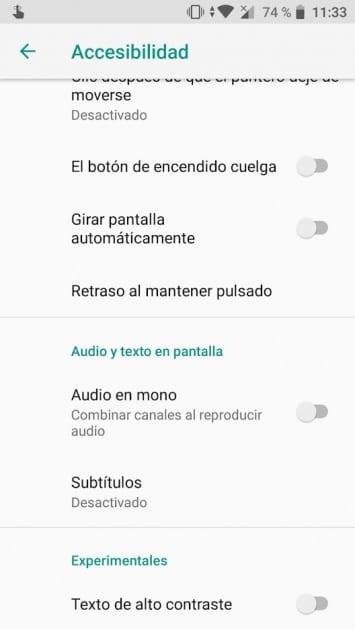 Poner audio en mono en Android