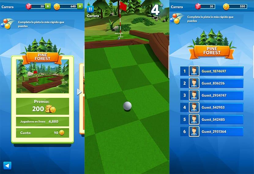 Golf Battle es un arcade