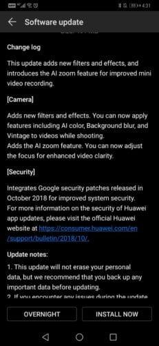 El Huawei Mate 20 Pro recibe EMUI 9.0.0.126