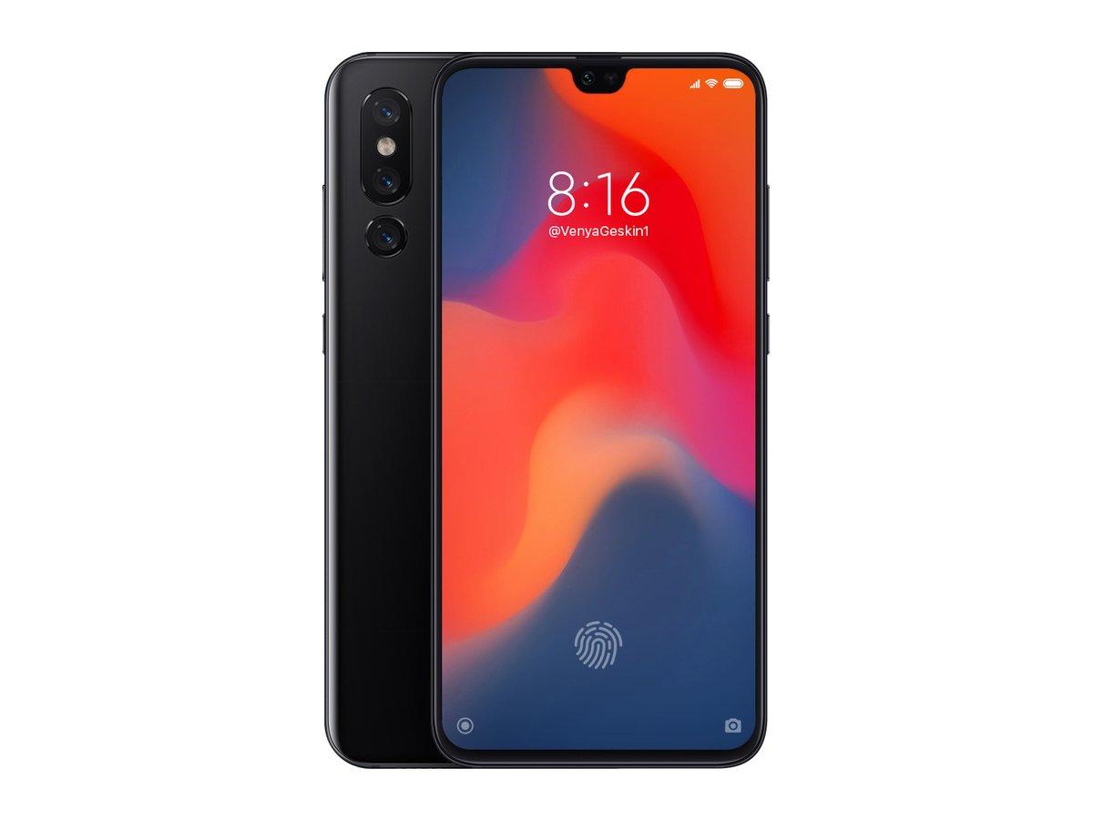 Render del Xiaomi Mi 9
