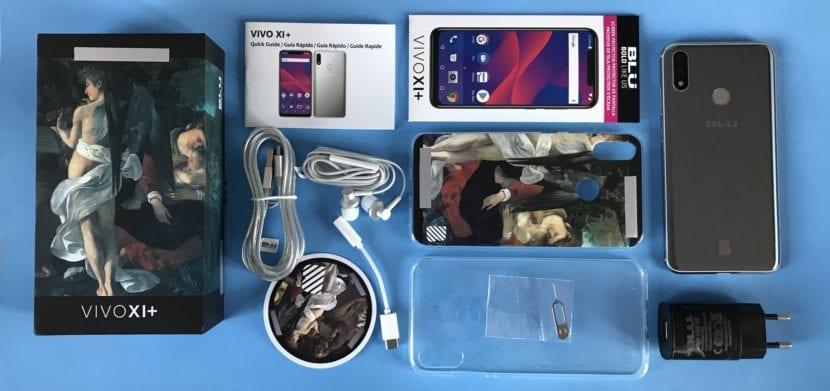 BLU VIVO XI + contenido de la caja