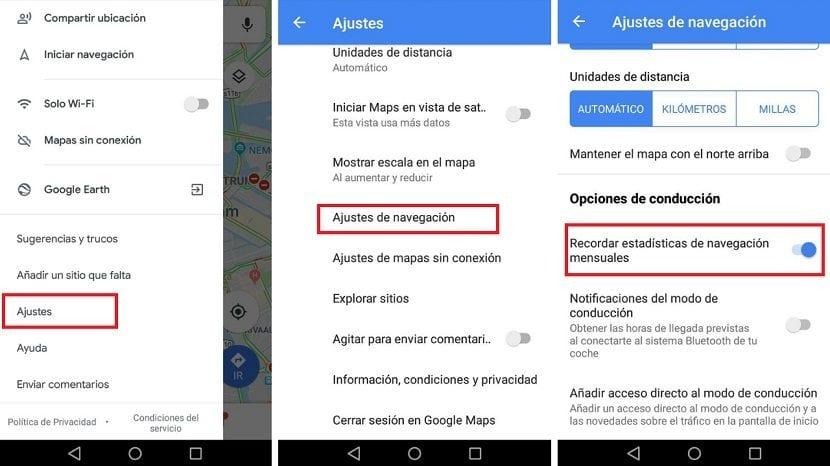 Estadisticas Google Maps
