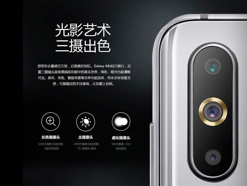Galaxy A8s camaras