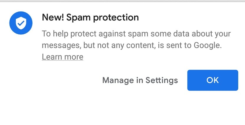 Google mensajes spam
