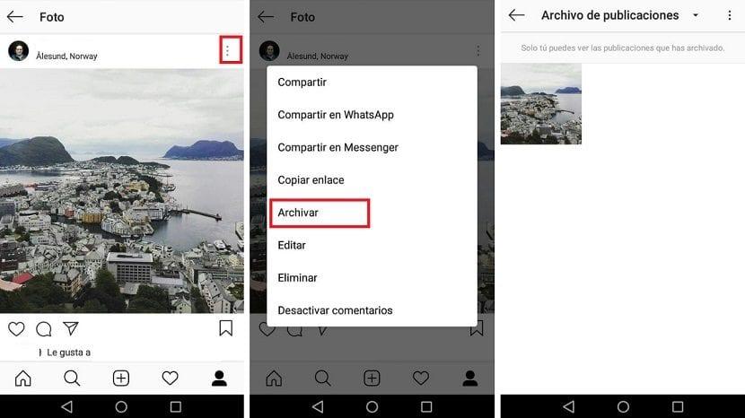 Instagram ocultar publicaciones