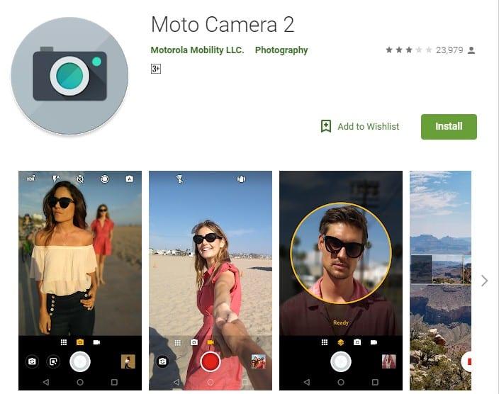 Nueva actualización de la cámara de Motorola