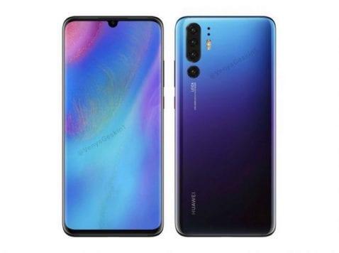 diseño del Huawei P30