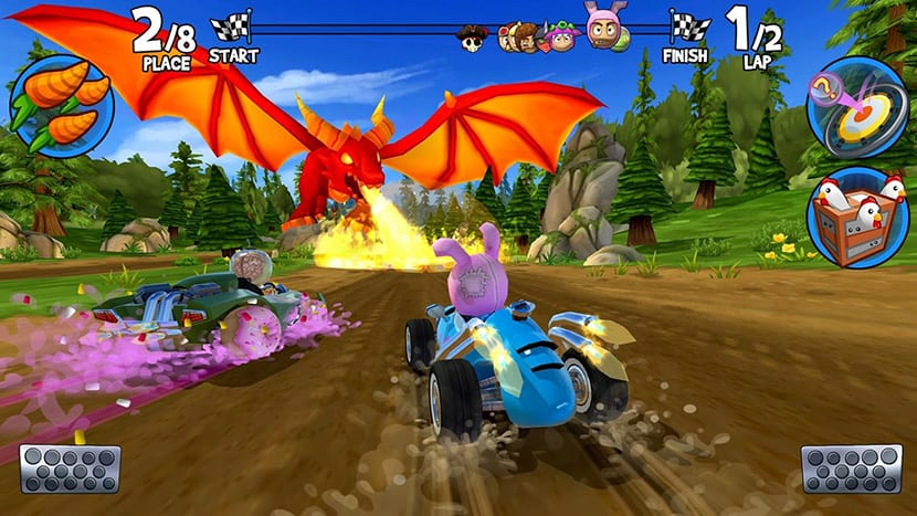 Dragones en Beach Buggy Racing 2