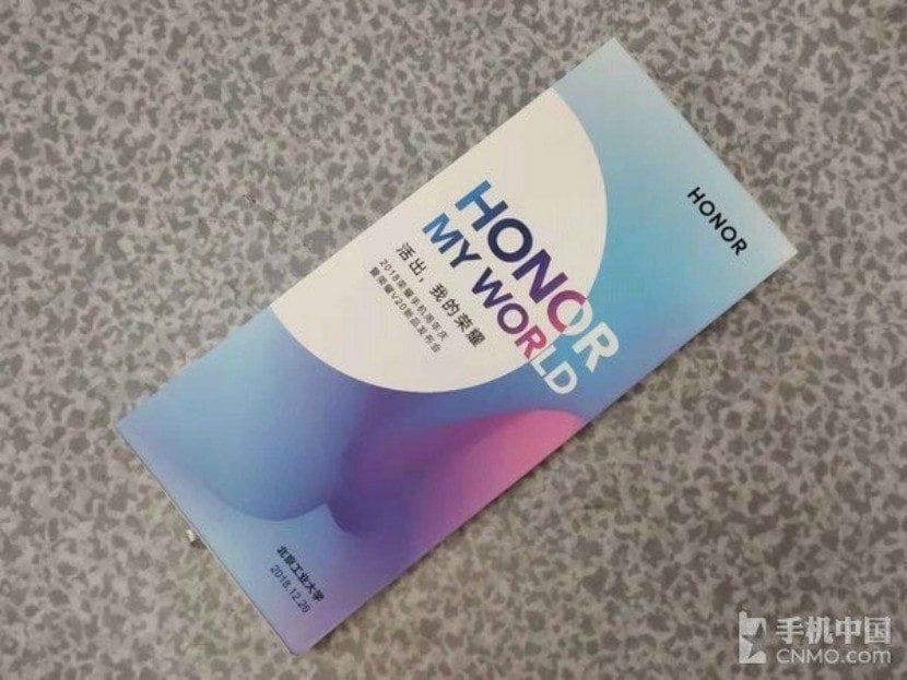 Invitación para el evento del Honor V20