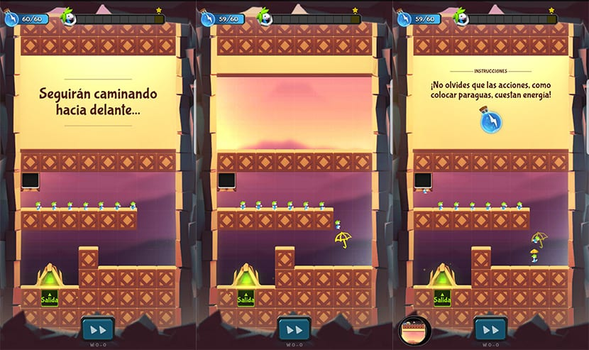 NIveles en Lemmings