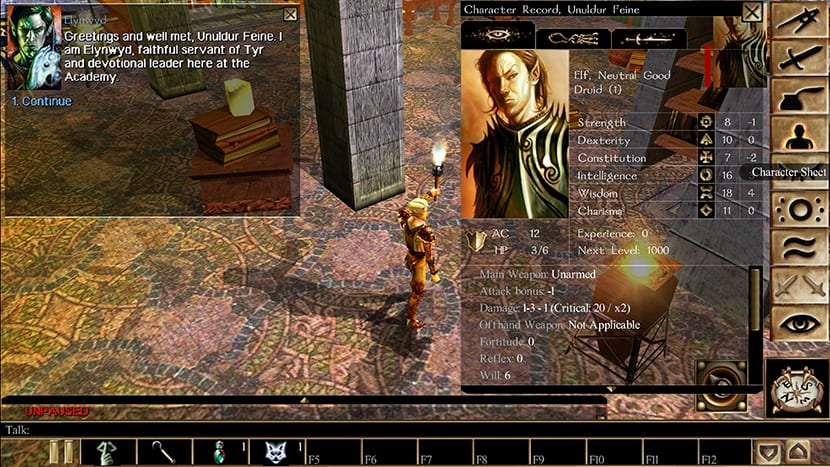 Neverwinter Nights en un Galaxy S9