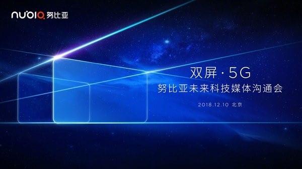 El Nubia X 5G se anunciará el 10 de diciembre