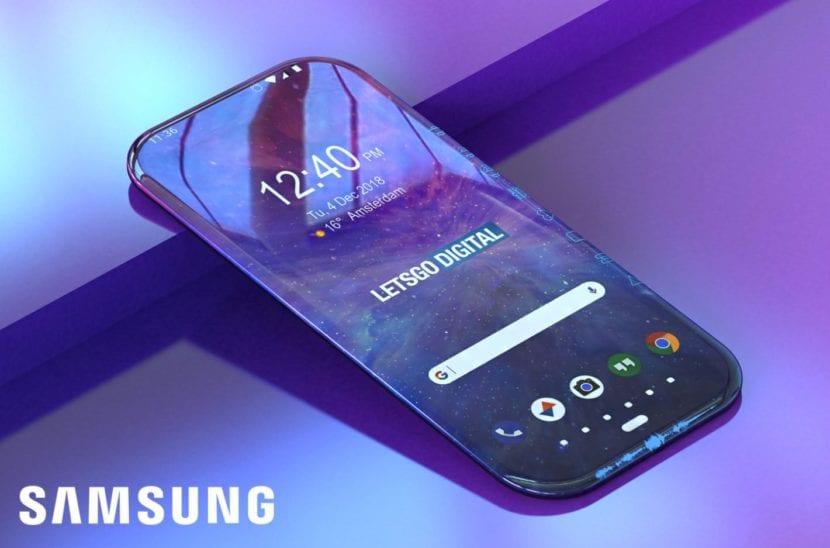 Samsung pantenta la pantalla envolvente para futuros teléfonos sin biseles
