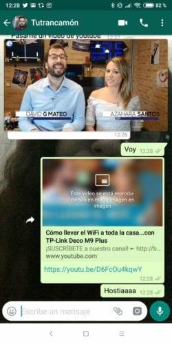 Modo PiP en WhatsApp