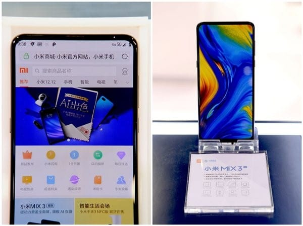 Xiaomi Mi Mix 3 5G probado en China con videollamadas en 5G