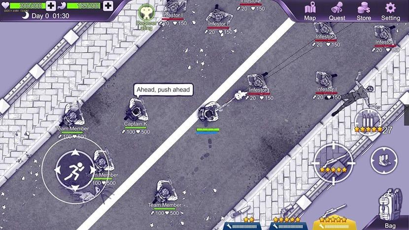Zombis en Ares Virus