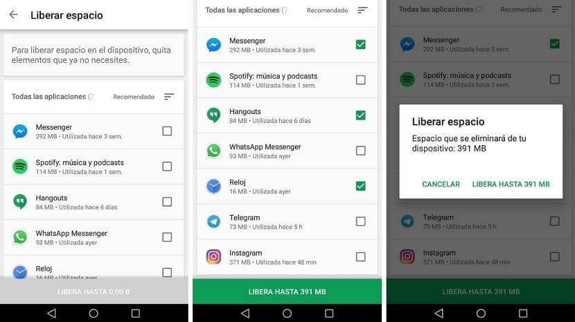 Google Play liberar espacio