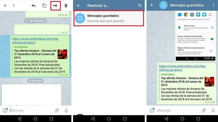 Guardar mensajes Telegram