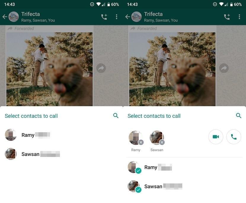 WhatsApp llamadas grupo