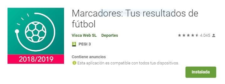 Marcadores: Tus resultados de fútbol