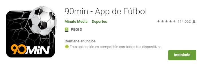 90 min - App de Fútbol
