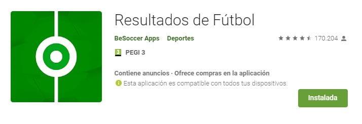 Resultados de Fútbol by BySoccer Apps