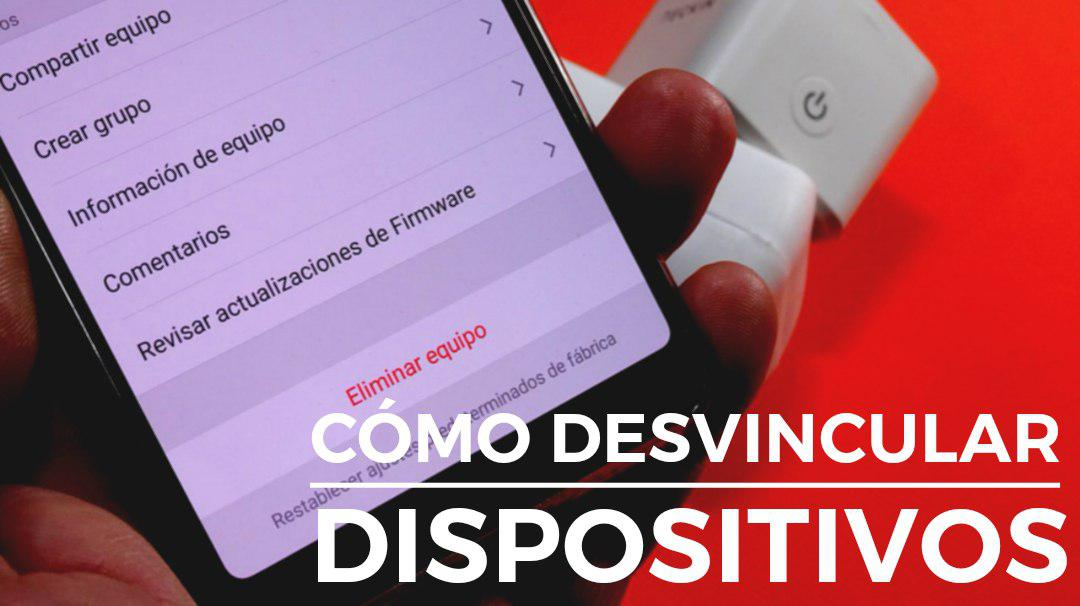 Desvincular dispositivos Smart Life