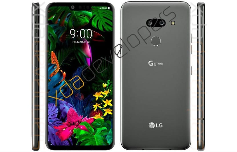 diseño del LG G8