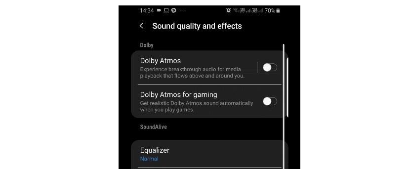 Android Pie para el Galaxy Note 9 nos ofrecerá la opción de activar Dolby Atmos para juegos de forma independiente