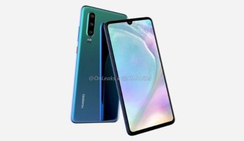 Huawei P30 render