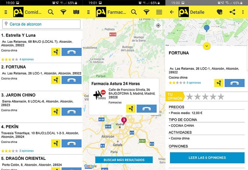 Mapa de Páginas Amarillas