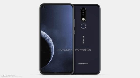 Render del Nokia 8.1 Plus