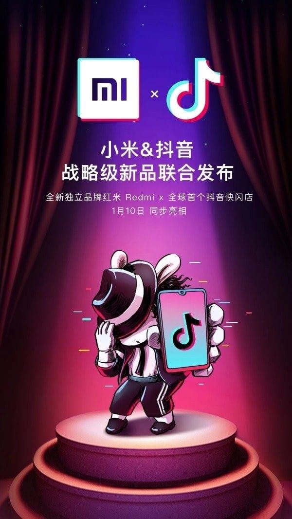 Xiaomi lanzará un Redmi en asociación con TikTok