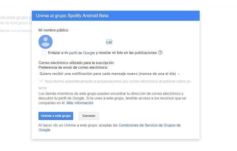Ser beta tester en Spotify