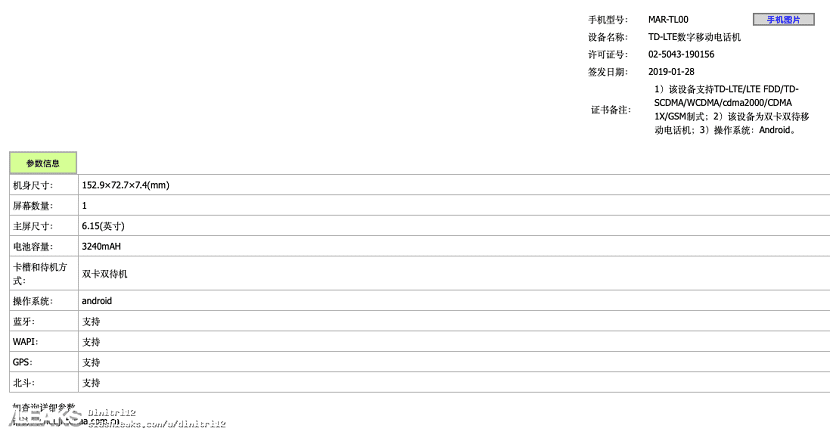 Características del Huawei P30 Lite
