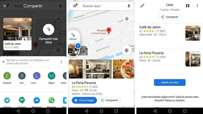 Compartir mas sitios Google Maps