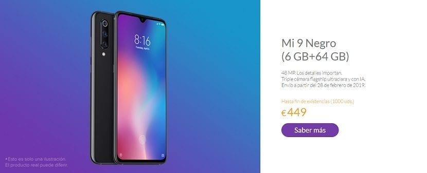 Xiaomi Mi 9 reserva