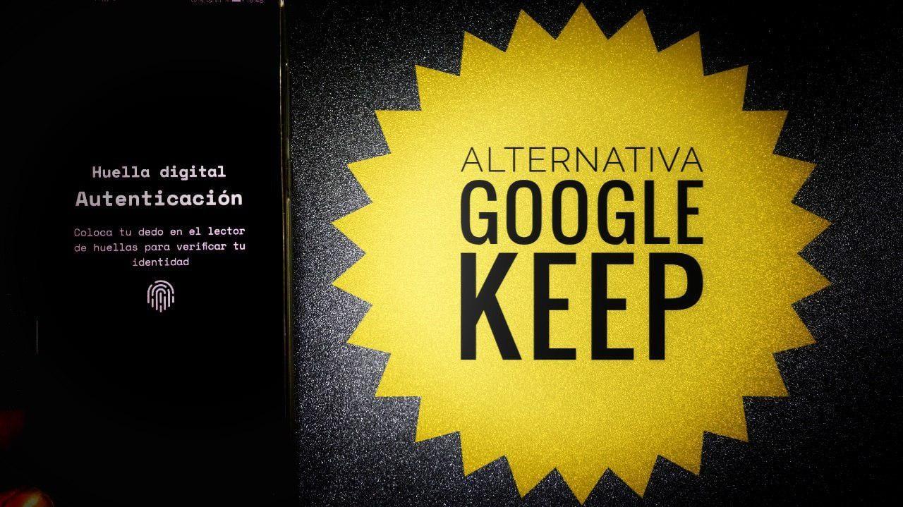 Una muy buena alternativa a Google Keep compatible con huella dactilar e interfaz Black AMOLED