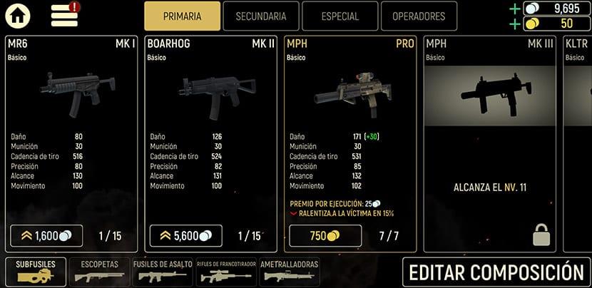Armas en Tacticool