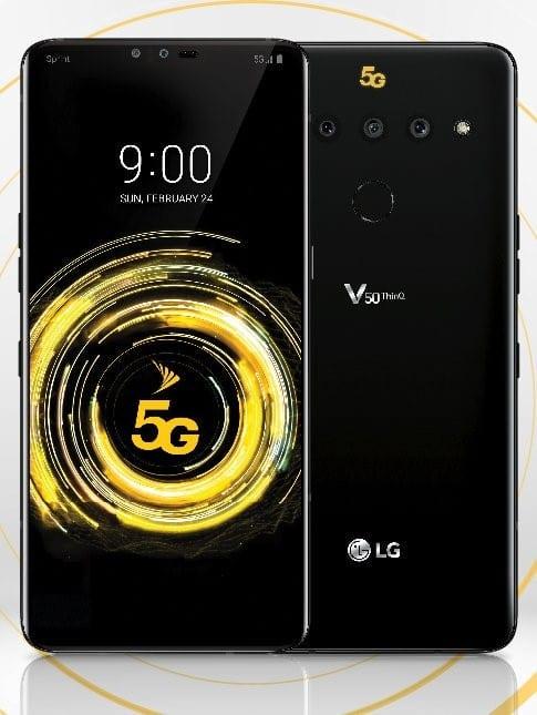 Render del LG V50 ThinQ 5G