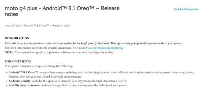 El Moto G4 Plus recibe Android Oreo en Estados Unidos