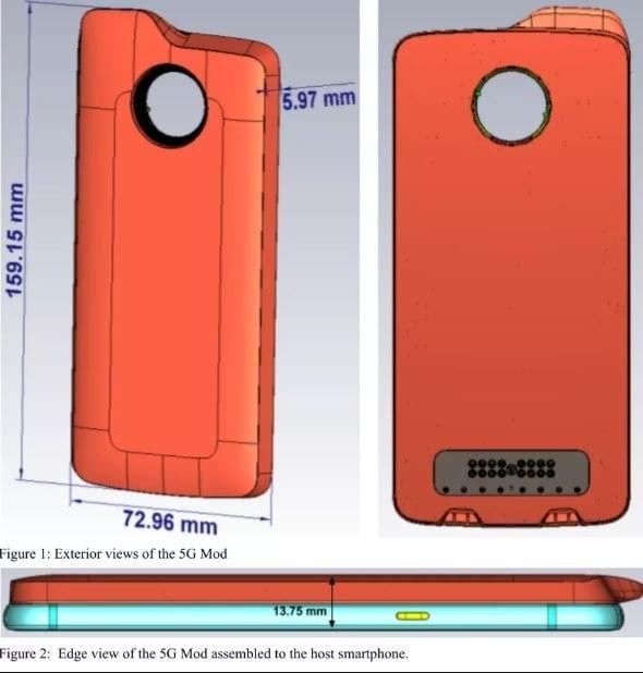 Moto Mod 5G de Motorola en la FCC